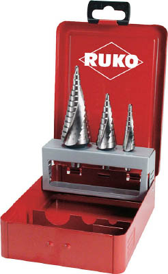 RUKO 2枚刃スパイラルステップドリル 40mm ハイス(1本) 101097 7660014