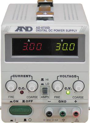 A&D 直流安定化電源トラッキング動作可能LEDデジタル表示(1台) AD8735D 3239632