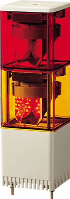 パトライト KES型 LED小型積層回転灯 82角(1台) KES202RY 3240215