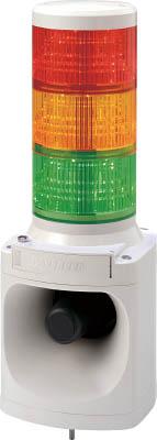 パトライト LED積層信号灯付き電子音報知器(1台) LKEH302FARYG 7514689