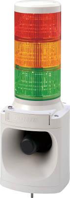 パトライト LED積層信号灯付き電子音報知器(1台) LKEH310FARYG 7514697