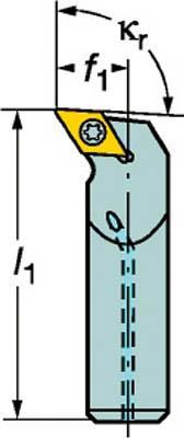 サンドビック コロターン107 ポジチップ用ボーリングバイト(1本) A20SSDUCL11 6025102