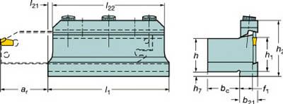 【代引不可】サンドビック T-Max Q-カット ツールブロック(1個) 151.2202025 6000665