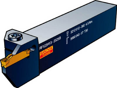サンドビック コロカット1・2 突切り・溝入れ用シャンクバイト(1本) LF123G202020B 1720767