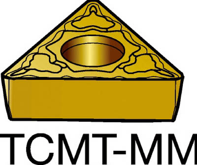 サンドビック コロターン107 旋削用ポジ・チップ 2025(10個) TCMT16T308MM 1721348
