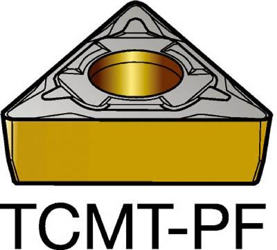サンドビック コロターン107 旋削用ポジ・チップ 5015(10個) TCMT16T304PF 2506955
