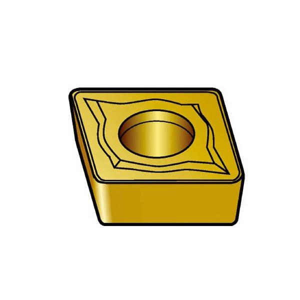 サンドビック コロターン107 旋削用ポジ・チップ 4235(10個) CCMT120408UR 3391558