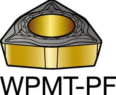 サンドビック コロターン111 旋削用ポジ・チップ 5015(10個) WPMT040202PF 2265087
