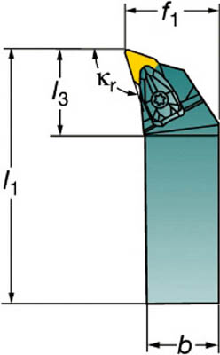 サンドビック コロターンRC ネガチップ用シャンクバイト(1本) DDHNR2525M1504 3590348