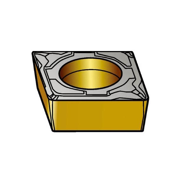 サンドビック コロターン107 旋削用ポジ・チップ 1515(10個) CCMT09T302PF 3592669
