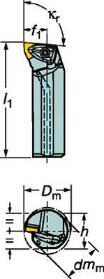 サンドビック コロターンRC ネガチップ用ボーリングバイト(1個) A25TDWLNR08 3593207