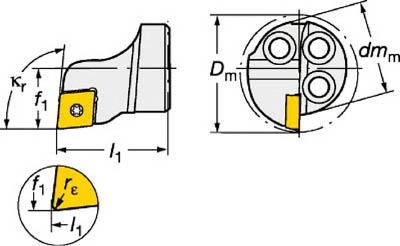 サンドビック コロターンSL コロターン111用カッティングヘッド(1個) 570SCLPR1606 6013058