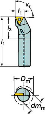 サンドビック コロターン111 ポジチップ用ボーリングバイト(1個) A20SSTFPL16 6014348