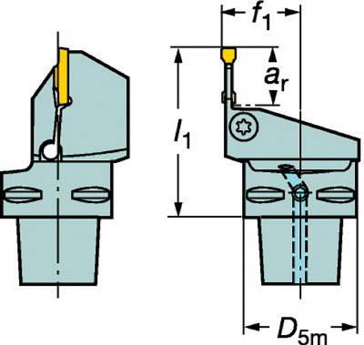 【代引不可】サンドビック コロマントキャプト コロカット1・2用カッティングユニット(1本) C6LF123K1645065B 6048854