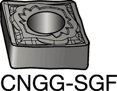 【代引不可】サンドビック T-Max P 旋削用ネガ・チップ 1105(10個) CNGG120408SGF 6049044