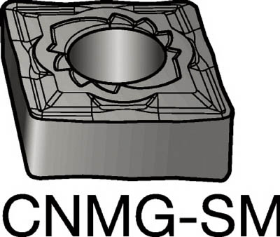 サンドビック T-Max P 旋削用ネガ・チップ(10個) CNMG160616SMR 6049346