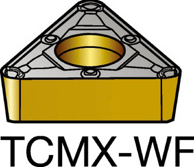 サンドビック コロターン107 旋削用ポジ・チップ 1115(10個) TCMX110304WF 3585816