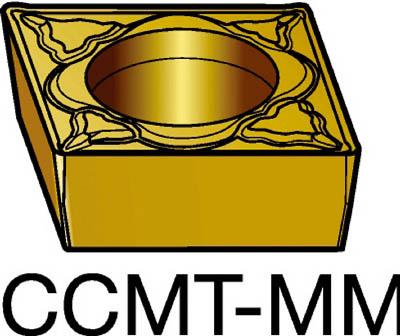 【代引不可】サンドビック コロターン107 旋削用ポジ・チップ 2015(10個) CCMT120408MM 6095453
