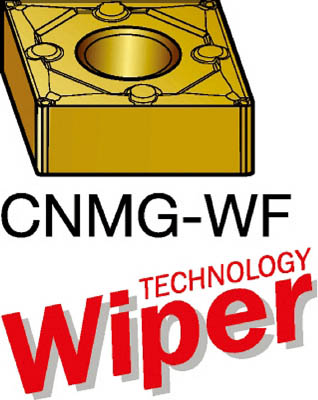 【代引不可】サンドビック T-Max P 旋削用ネガ・ワイパーチップ 1515(10個) CNMG120404WF 6095640