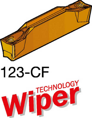 サンドビック コロカット2 突切り・溝入れチップ 2135(10個) N123F202500001CF 6098282