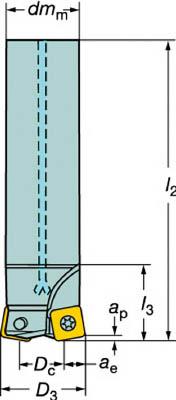 サンドビック コロミル210エンドミル(1個) R210025A2009M 6099599