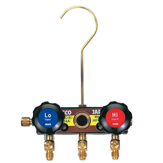 TASCO(タスコ):R404A、R407C、R507A、R134a ゲージマニホールドボディ TA124F-11
