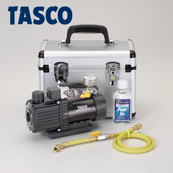 イチネンTASCO(タスコ):小型ツーステージ真空ポンプ(アナログ真空ゲージ付) TA150SW-S