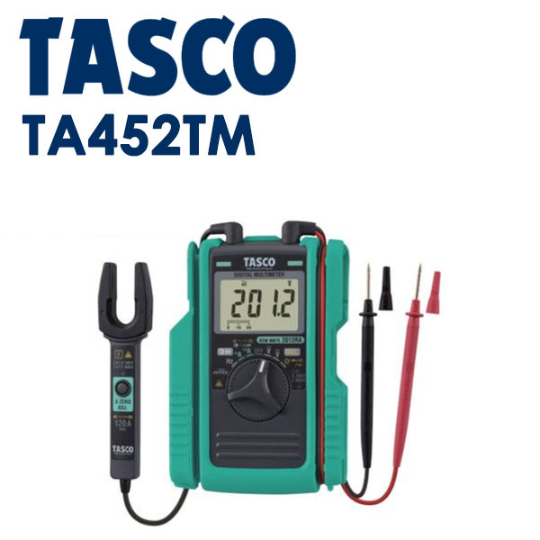 イチネンTASCO(タスコ):AC/DCクランプ付デジタルマルチメータ TA452TM