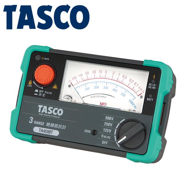 TASCO(タスコ):3レンジ絶縁抵抗計 TA453BT
