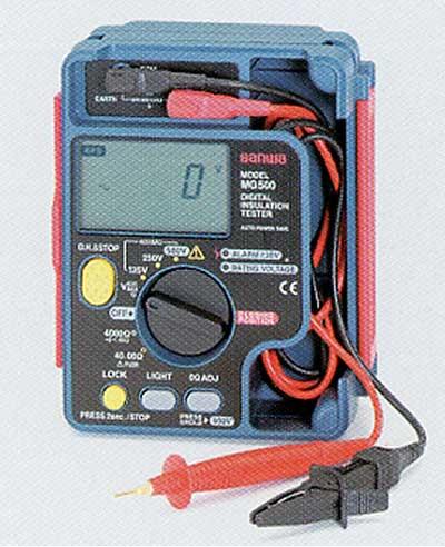 TASCO(タスコ):3 レンジデジタル絶縁抵抗計 (定格:125V/250V/500V) TA453C-3