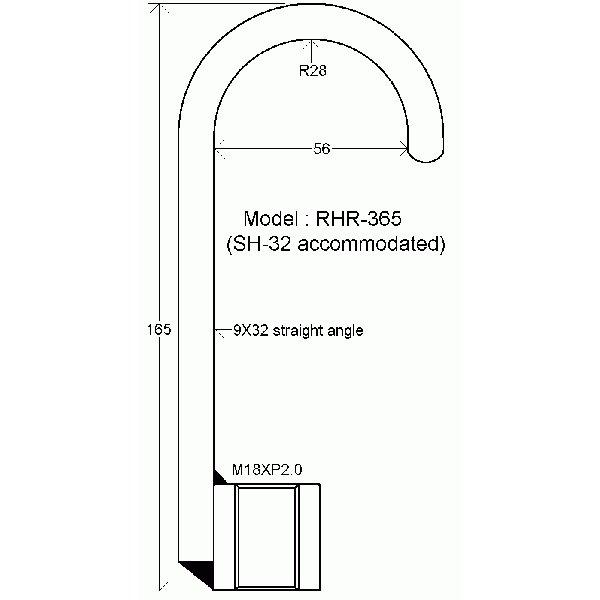 ハスコー:板金フック L365 RHR-365