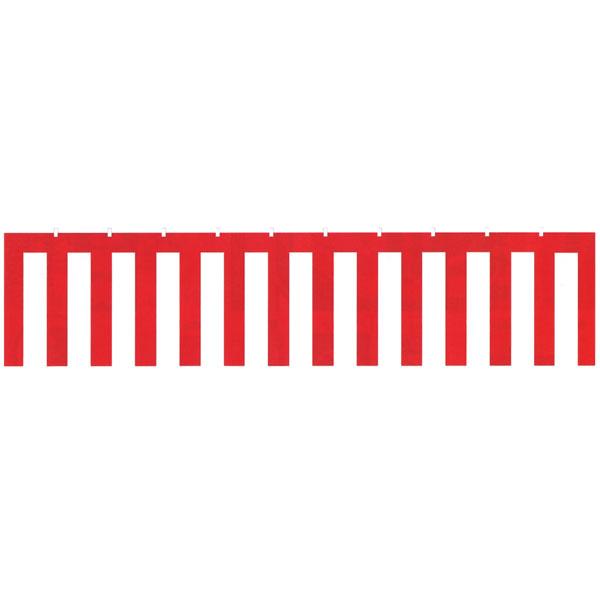 オリエンタルトレイド:紅白幕(無地) 450x9000mm B1-2