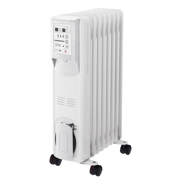 スリーアップ:Hidamari マイコン式 オイルヒーター(リモコン付) ホワイト OHT-1556WH