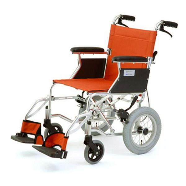 【代引不可】MIWA:車椅子 HTB-12 オレンジ 11858