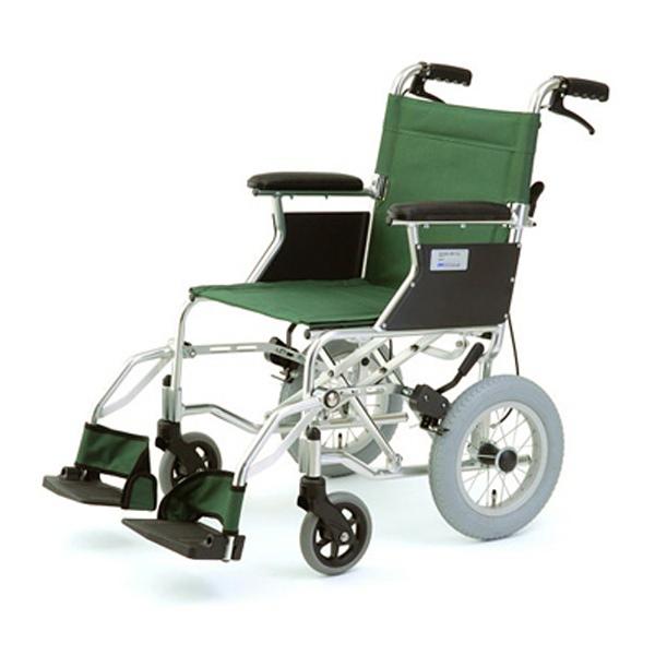【代引不可】MIWA:車椅子 HTB-12 グリーン 11859