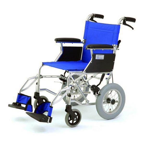 【代引不可】MIWA:車椅子 HTB-12 ブルー 11860