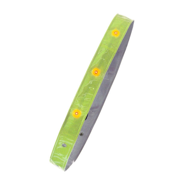 【代引不可】MIZUKEI(ミズケイ):[入数:50枚]LED付き反射タスキ『たすけ帯』イエロー 3301505-50