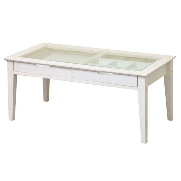 【代引不可】市場:ine reno collection table ホワイト INT-2576WH