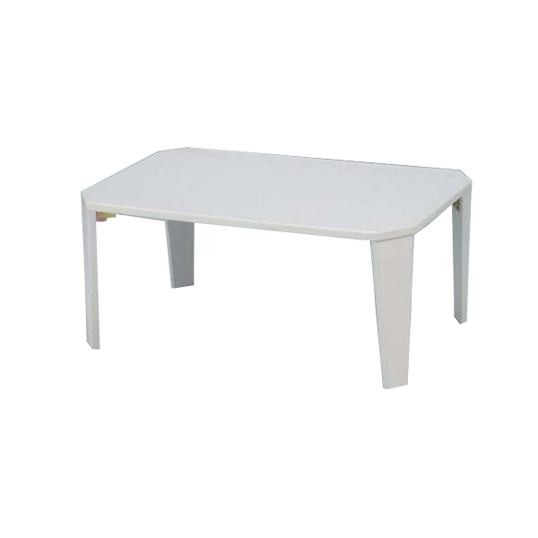 【代引不可】市場:折リたたみテーブル(鏡面仕上げ) ホワイト 20-151WH