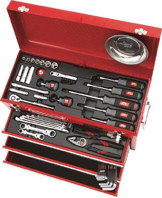 整備用工具セット(差込角9.5mm) 4989433937403 KTC 整備用工具セット(チェストタイプ)(1S) SK3567X 3737985