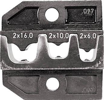 RENNSTEIG 圧着ダイス 624-097 フェルール端子2X6、2X10、(1組) 62409730 7665351