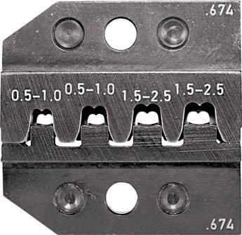 RENNSTEIG 圧着ダイス 624-674 ソケットコンタクト 0.5-2.(1組) 62467430 7665431