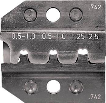 RENNSTEIG 圧着ダイス 624-742 オープンバレル接続端子 0.5-(1組) 62474230 7665458