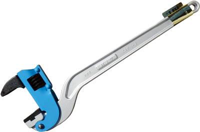 HIT ブルー アルミコーナーパイプレンチ 白管、被覆管 兼用 600mm(1丁) ACPW600J 4437535