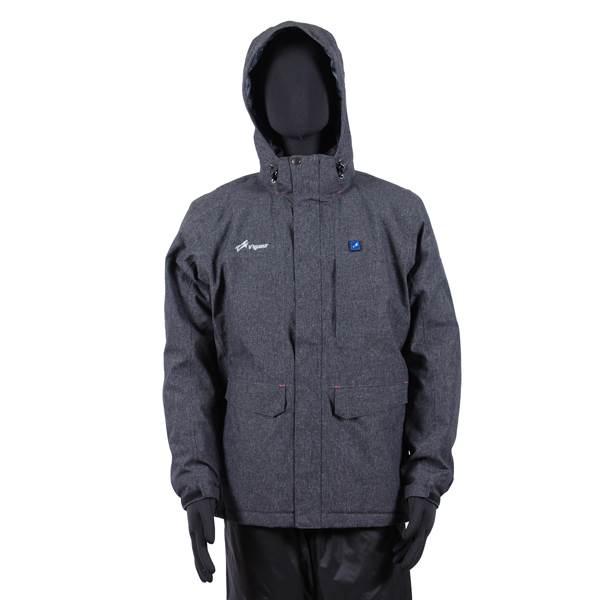 VIGUEUR(ヴィガール):日本製ヒーター付き暖房服防水防寒ジャケット VG-2021-CHA-S