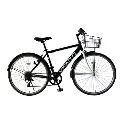【後払い不可】【代引不可】【法人限定】TOP ONE(トップワン):26インチシティクロスバイク シマノ外装6段ギア・前カゴ・泥除け付 ブラック T-MCA266-43-BK