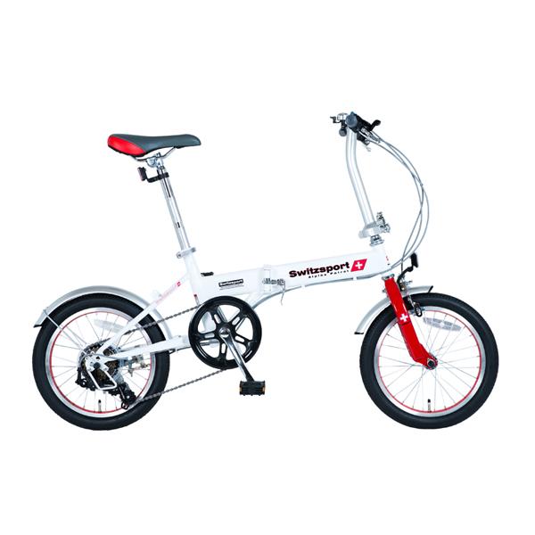 【代引不可】SwitzsportTech (スウィツスポート-テック):VARZO-II〔バルツォII〕 16インチ 折畳自転車 〔シマノ6段変速〕 MDL31008