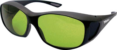 レーザー用保護メガネ(YAGレーザー用) 4989999333664 TRUSCO レーザー用保護メガネオーバーグラス YAG用(1個) TLSOGYG 4897030