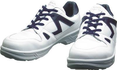 シモン 安全靴 短靴 8611白/ブルー 23.5cm(1足) 8611WB23.5 3514099