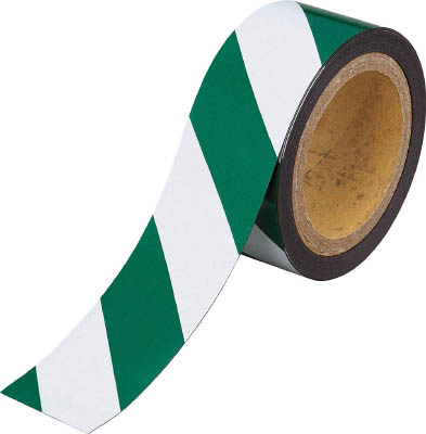 TRUSCO マグネット反射シート 緑・白 180mmX10m(1枚) TMGH1810GW 4779533